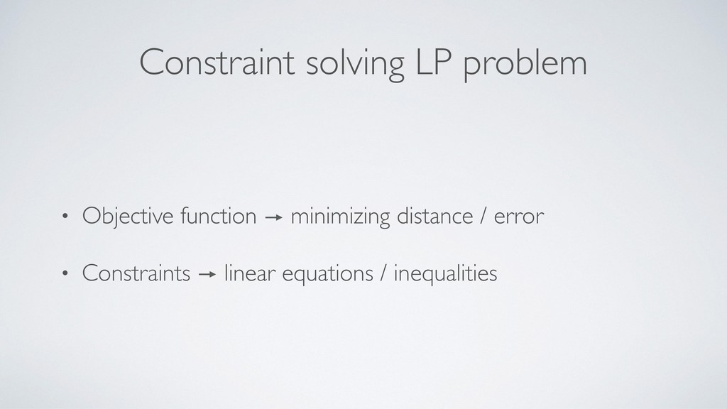 Constraint solving LP problem • Objective funct...