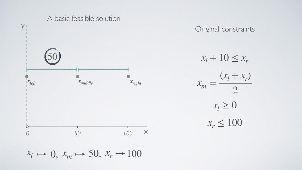 x y 50 100 0 xr 100 xm 50, xl 0, 50 xm = (xl + ...