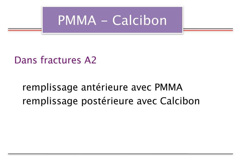 PMMA - Calcibon Dans fractures A2  remplissage...