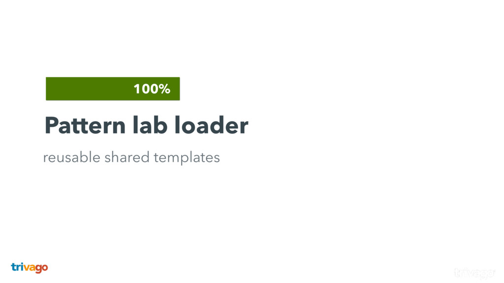 100% Pattern lab loader reusable shared templat...