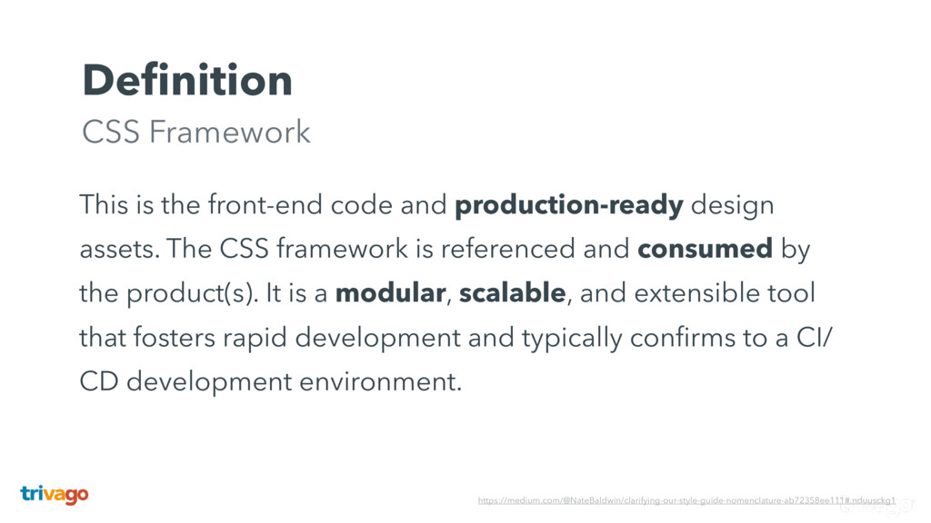 Definition CSS Framework This is the front-end ...