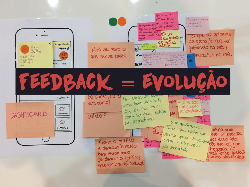 feedback = evolução