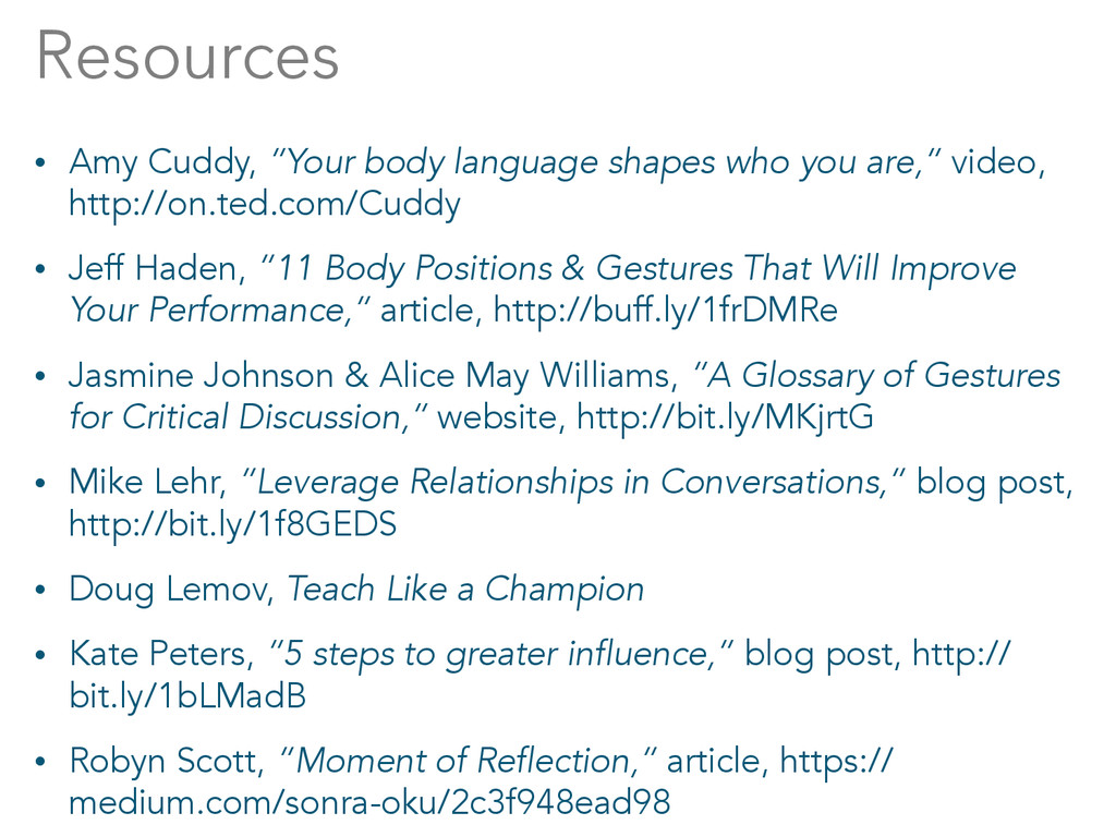 """Resources • Amy Cuddy, """"Your body language shap..."""