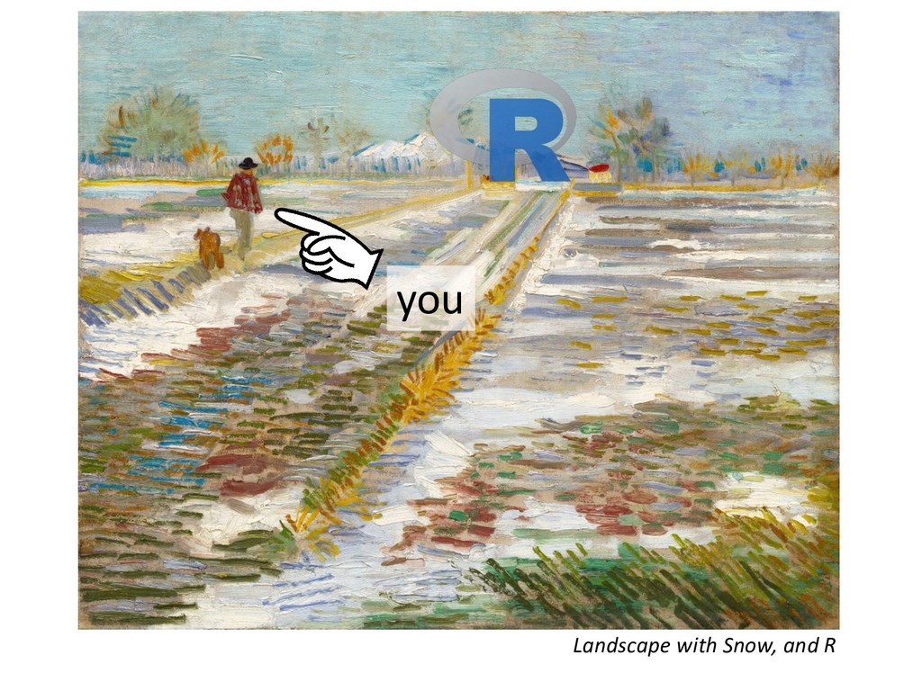 Landscape with Snow, and R you