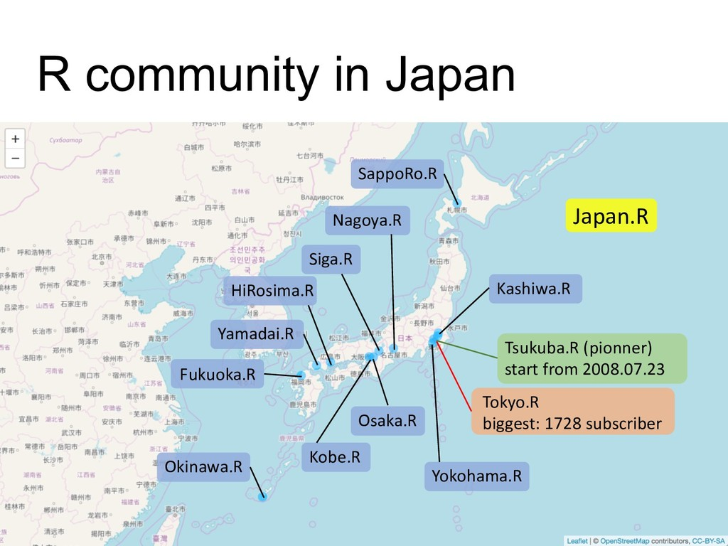 R community in Japan SappoRo.R Okinawa.R Fukuok...