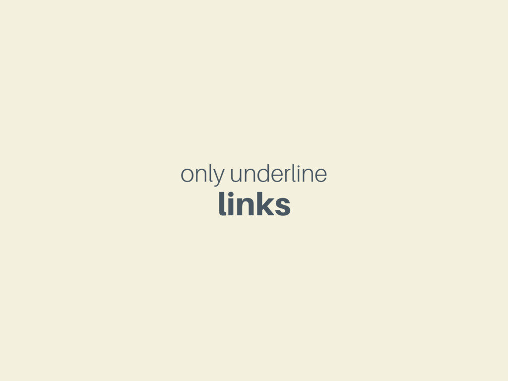 only underline links