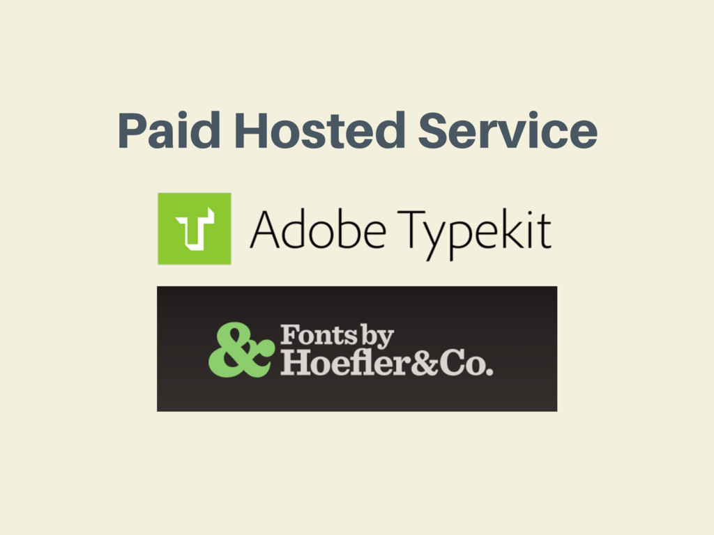 Paid Hosted Service