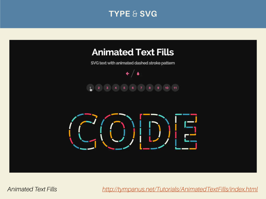 TYPE & SVG Animated Text Fills http://tympanus....