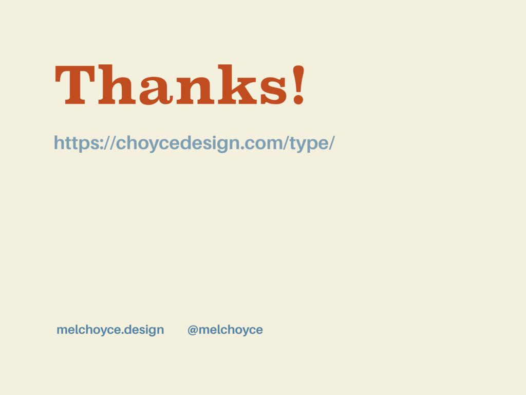 Thanks! @melchoyce melchoyce.design https://cho...