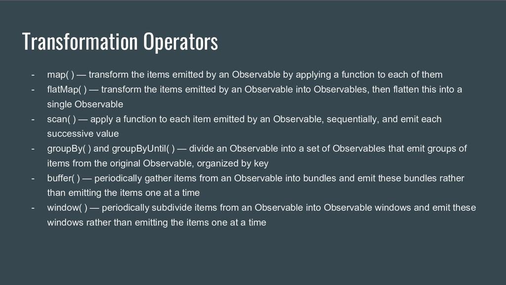 Transformation Operators - map() — transform t...