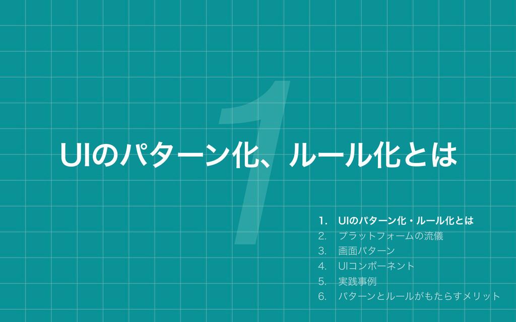 1 6*ͷύλʔϯԽɺϧʔϧԽͱ  6*ͷύλʔϯԽɾϧʔϧԽͱ  ϓϥοτϑ...