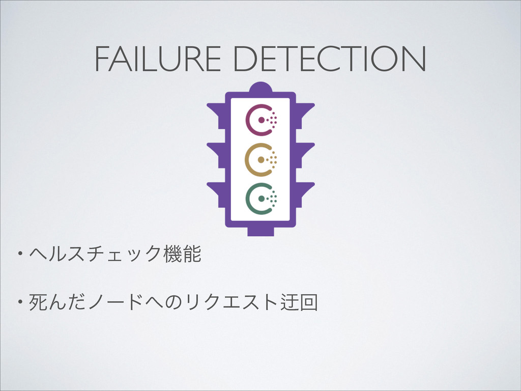 FAILURE DETECTION • ϔϧενΣοΫػ  • ࢮΜͩϊʔυͷϦΫΤε...