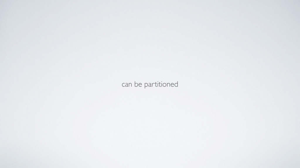 can be partitioned