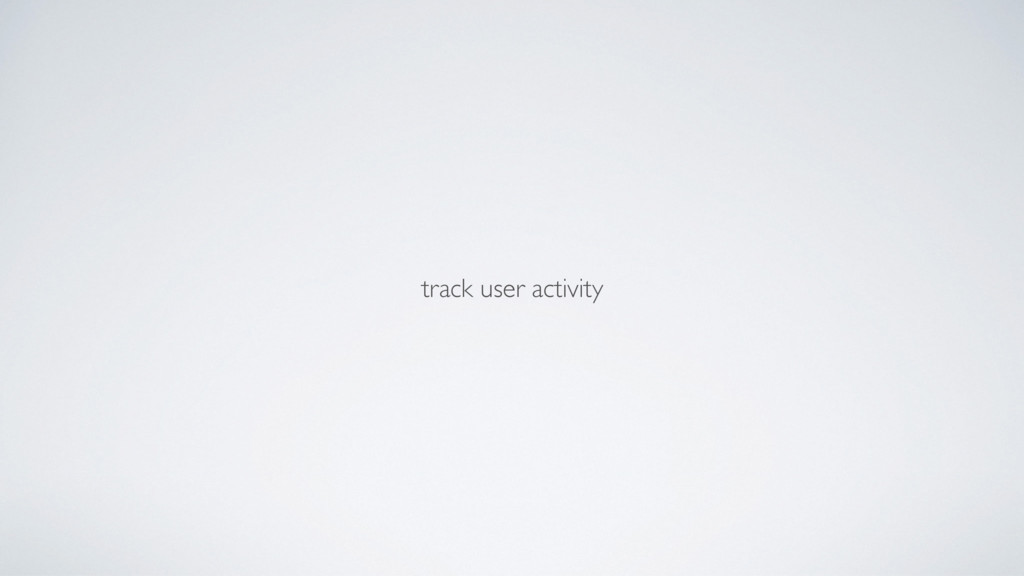track user activity