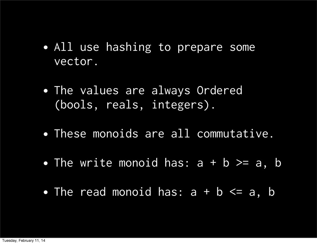•All use hashing to prepare some vector. •The v...