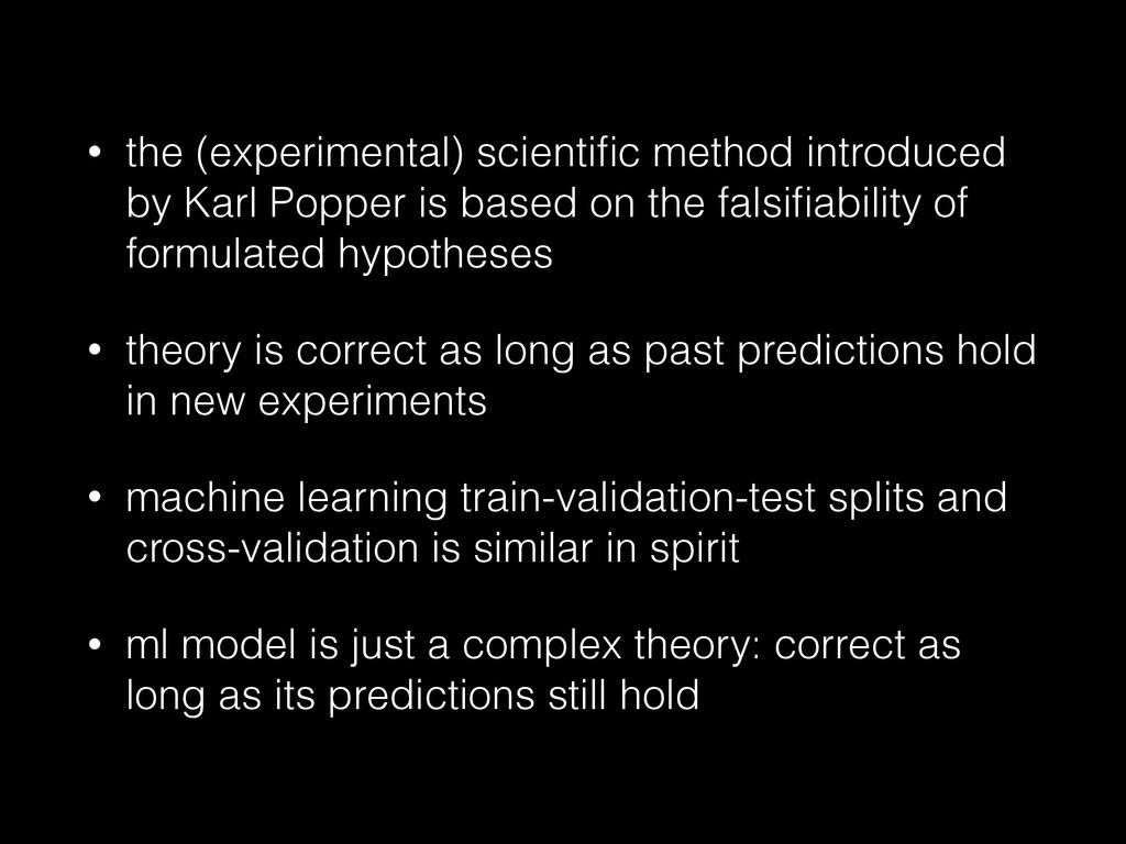 • the (experimental) scientific method introduce...