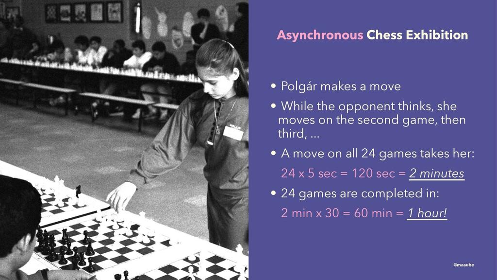 Asynchronous Chess Exhibition • Polgár makes a ...