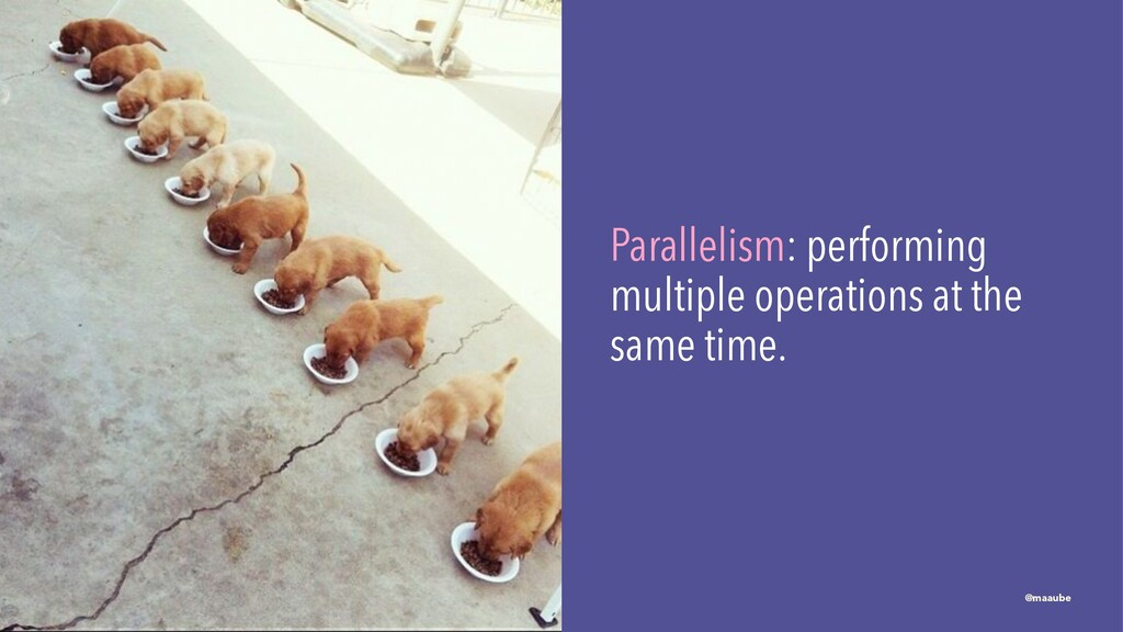 Parallelism: performing multiple operations at ...