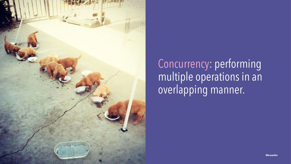 Concurrency: performing multiple operations in ...