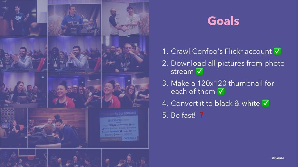 Goals 1. Crawl Confoo's Flickr account 2. Downl...