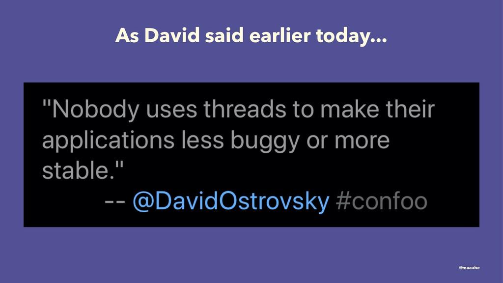 As David said earlier today... @maaube