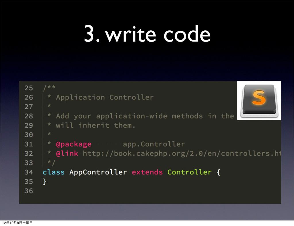 3. write code 1212݄8༵