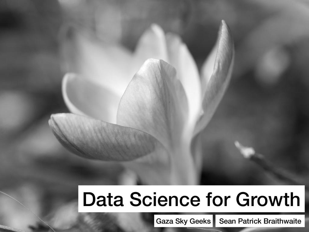 Data Science for Growth Gaza Sky Geeks Sean Pat...