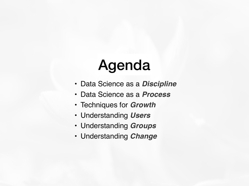 • Data Science as a Discipline • Data Science a...