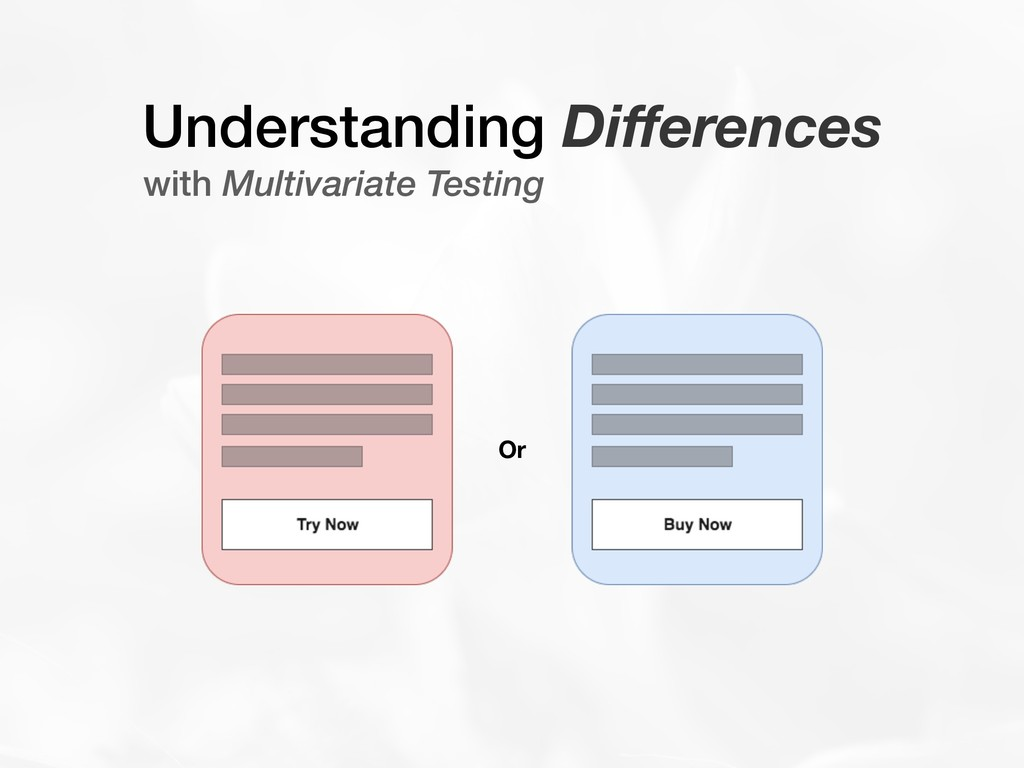 Understanding Differences with Multivariate Test...