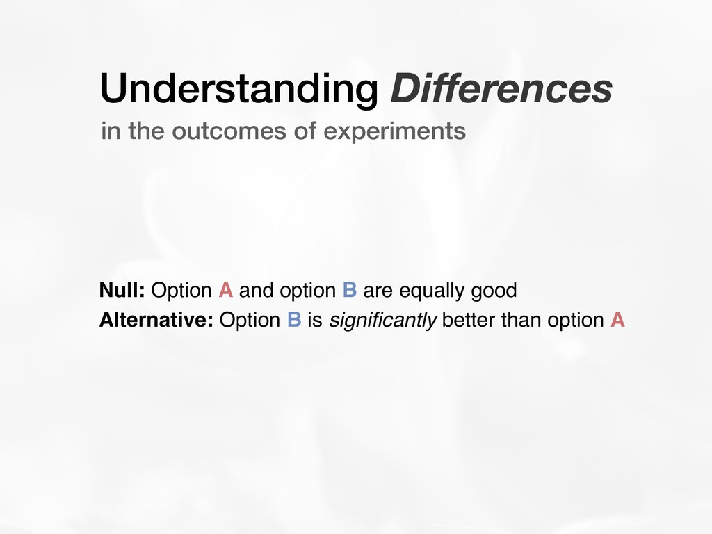 Understanding Differences in the outcomes of exp...
