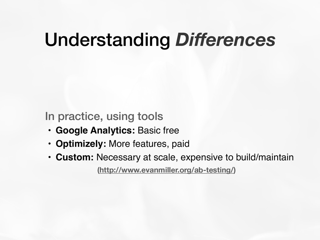 Understanding Differences In practice, using too...