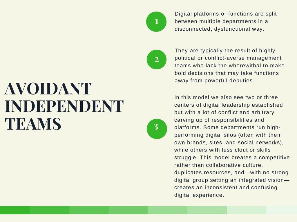 Digital platforms or functions are split betwee...