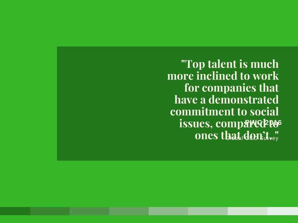 """PWC 2016 Global CEO Survey """"Top talent is much ..."""