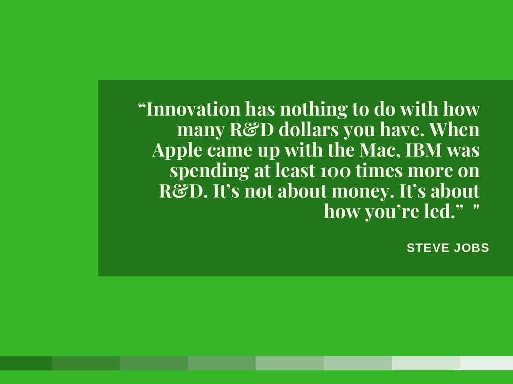 """STEVE JOBS """"Innovation has nothing to do with h..."""