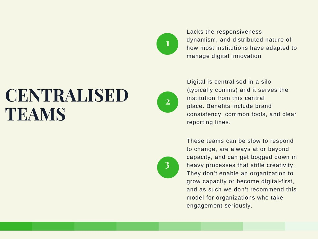 Lacks the responsiveness, dynamism, and distrib...