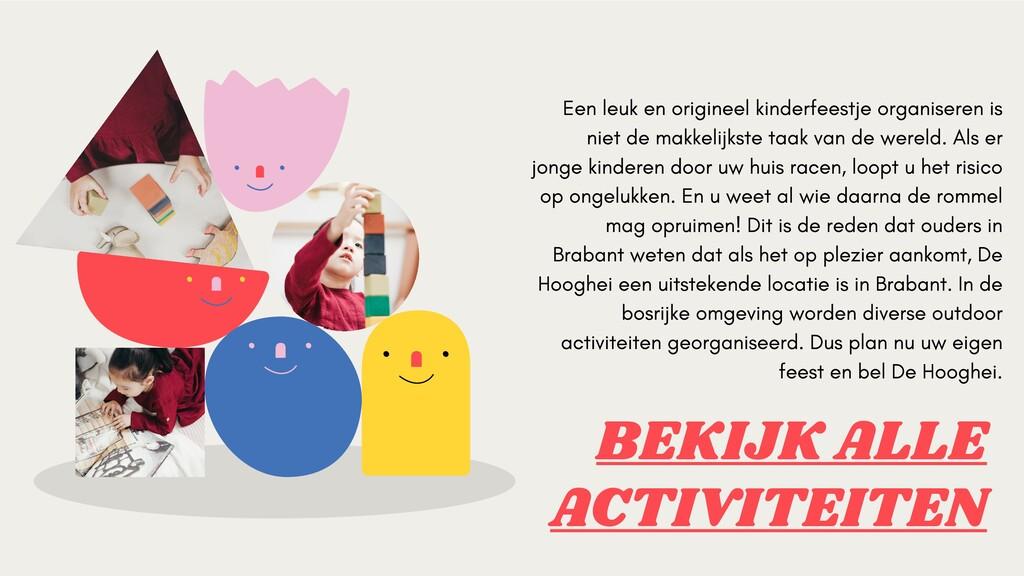 BEKIJK ALLE ACTIVITEITEN Een leuk en origineel ...