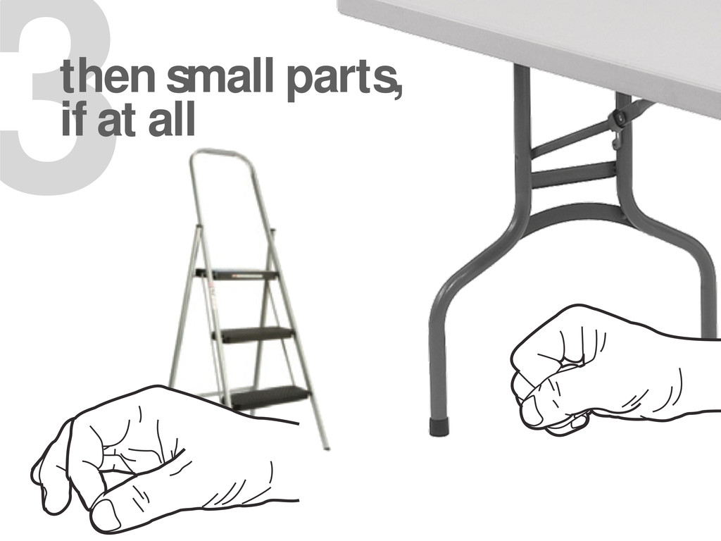 3 then small parts, if at all