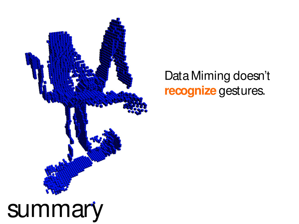 summary Data Miming doesn't recognize gestures.