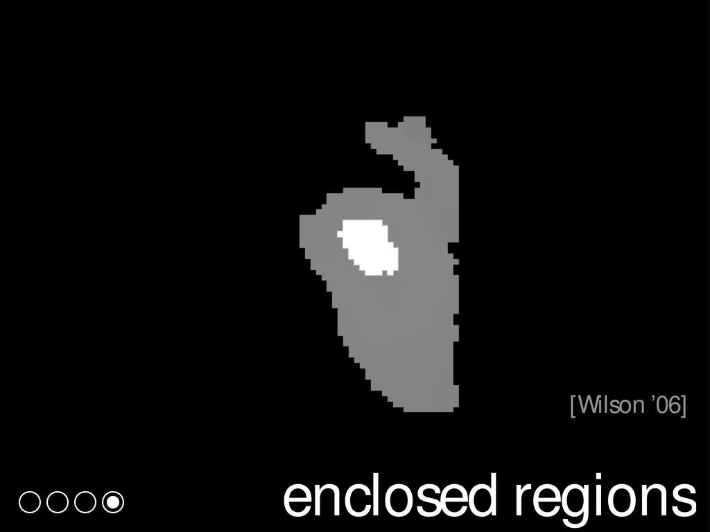 enclosed regions [Wilson '06]