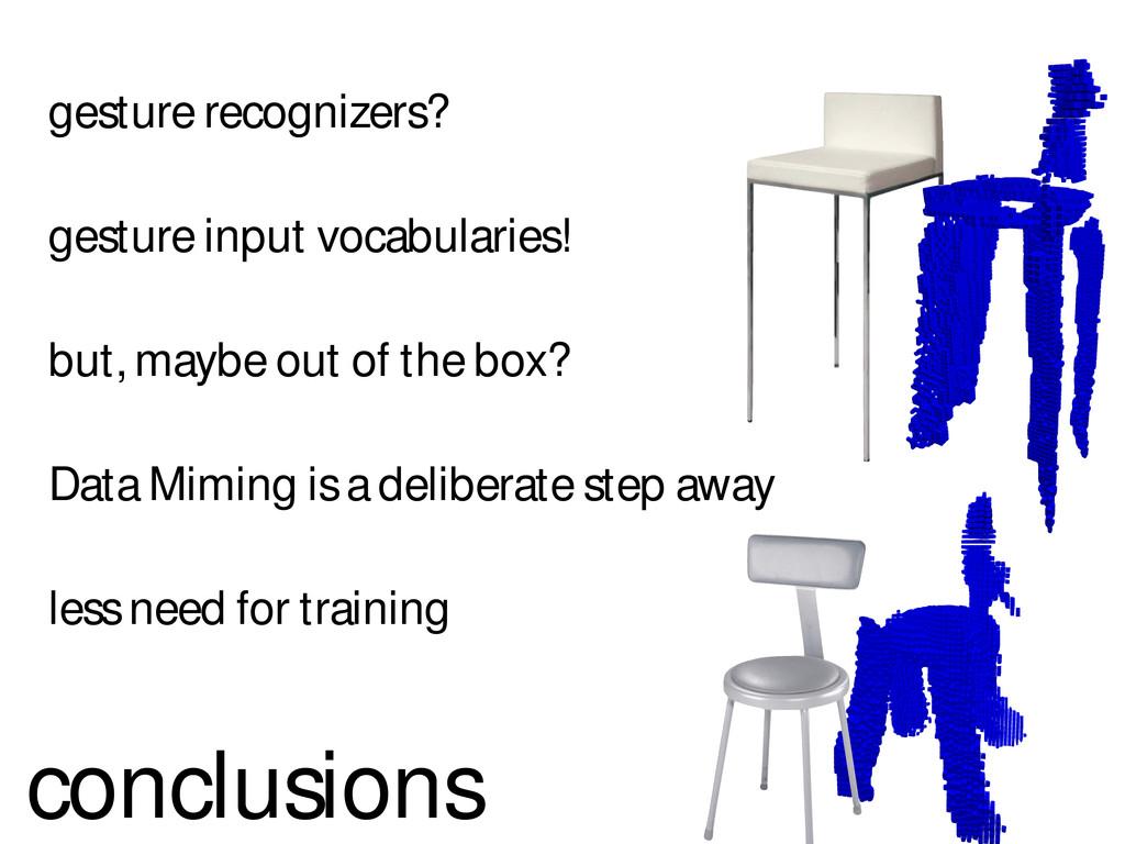gesture recognizers? gesture input vocabularies...