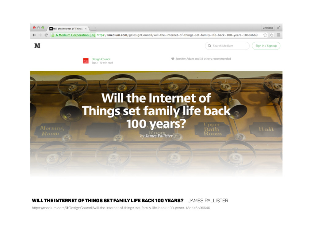 Will the Internet of Things set family life bac...