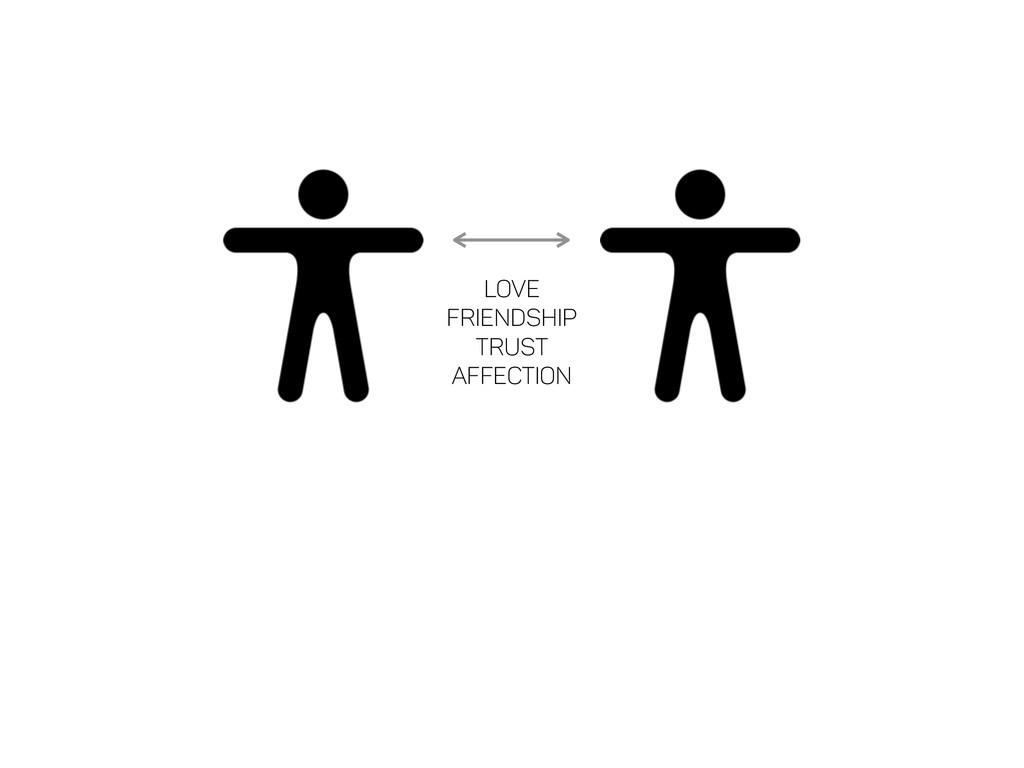 Love Friendship Trust Affection Empathy Remorse...