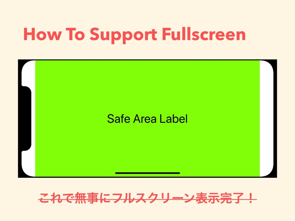 How To Support Fullscreen ͜ΕͰແࣄʹϑϧεΫϦʔϯදࣔ׬ྃʂ