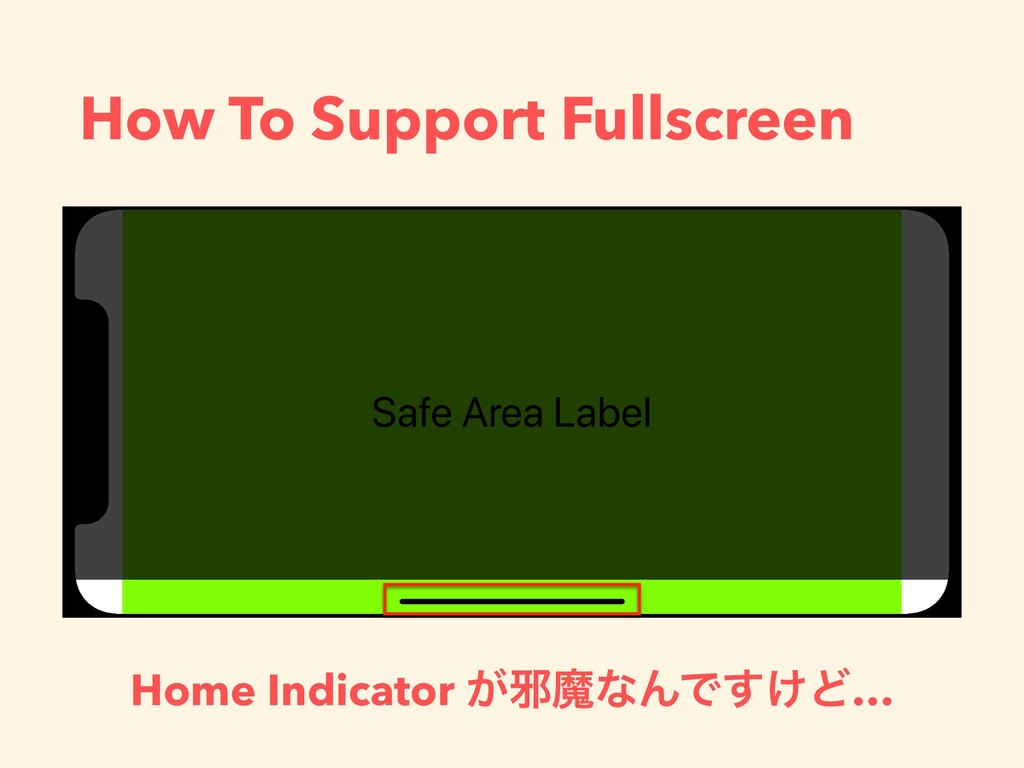 How To Support Fullscreen Home Indicator ͕अຐͳΜͰ...