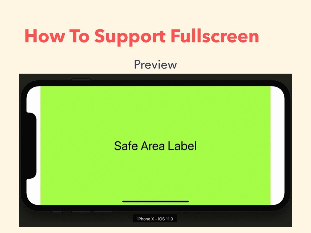 How To Support Fullscreen Preview