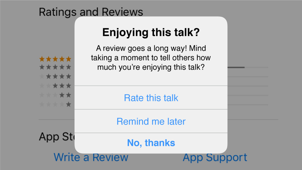 Enjoying this talk? A review goes a long way! M...