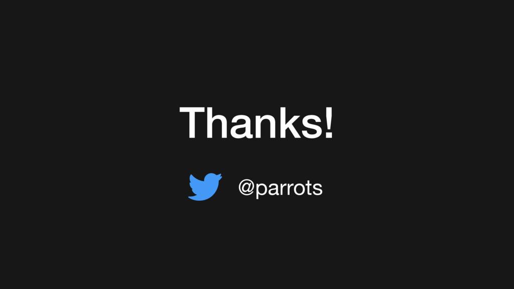 @parrots Thanks!