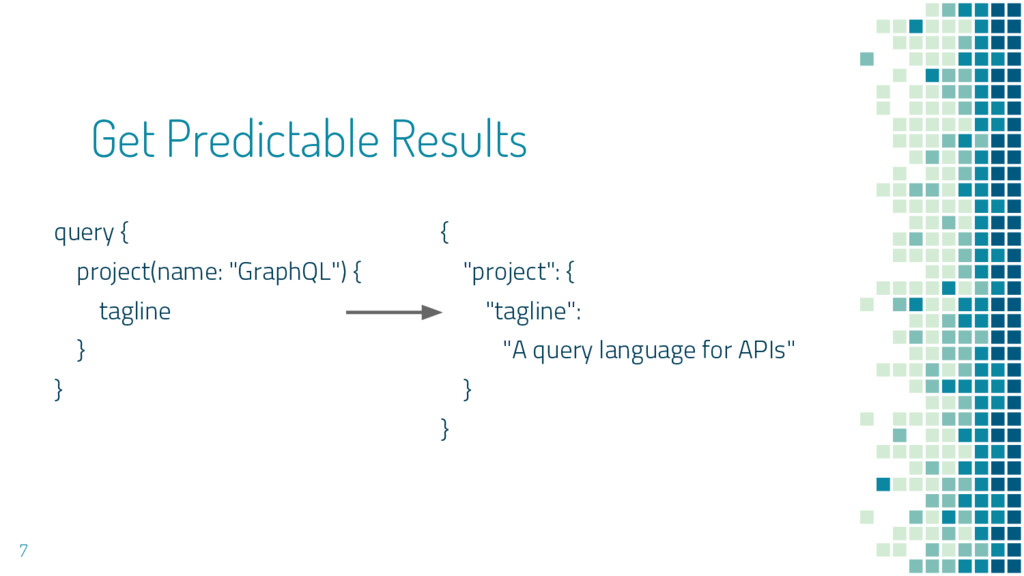 """Get Predictable Results query { project(name: """"..."""