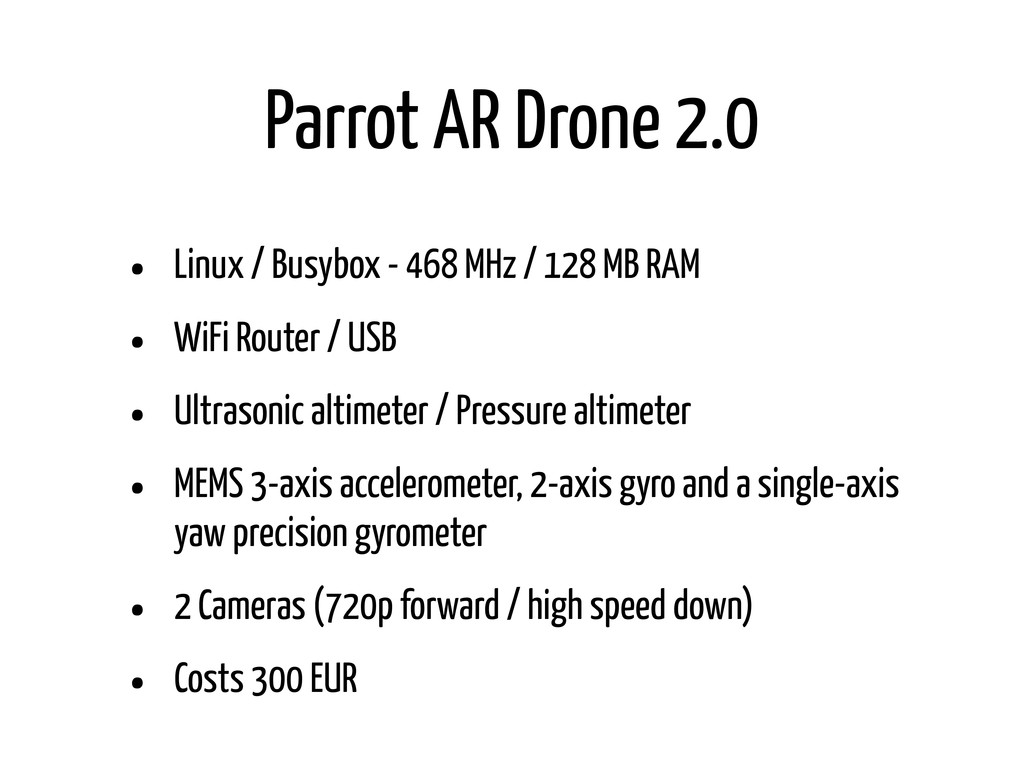 Parrot AR Drone 2.0 • Linux / Busybox - 468 MHz...