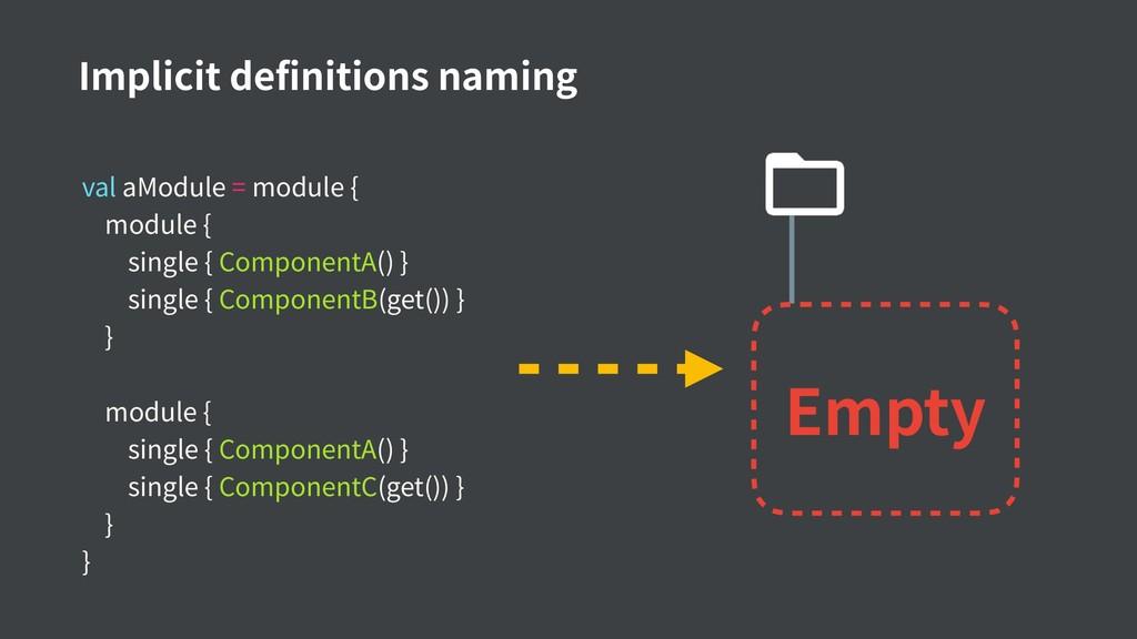 val aModule = module { module { single { Compon...